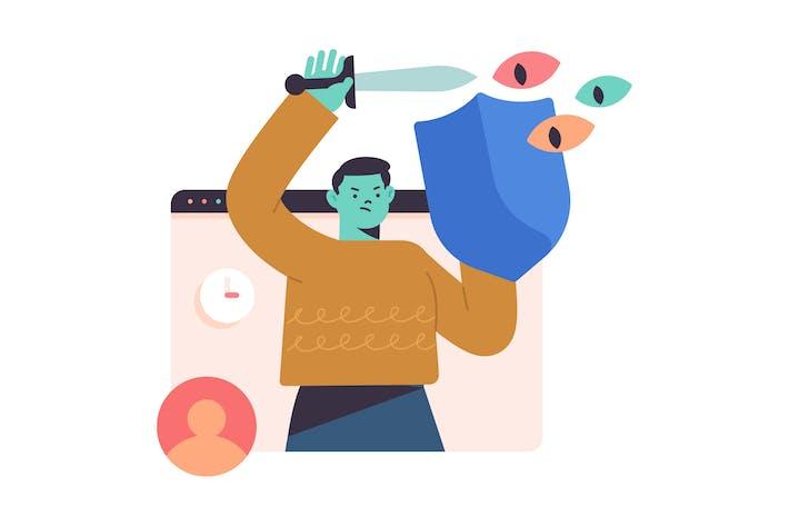 Privacy Flat Illustration