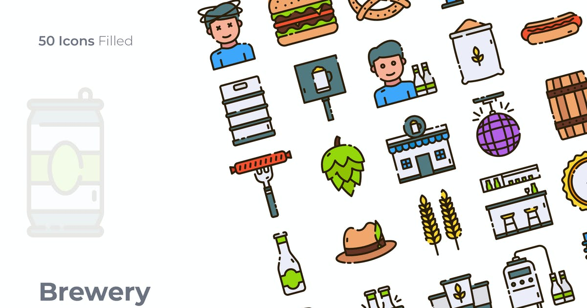 Download Brewery Filled Icon by GoodWare_Std