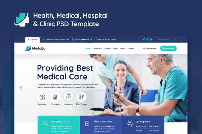 Thumbnail for Medcity - Health Medical PSD Template