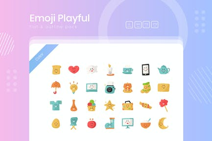 Playful Sticker Icon Pack