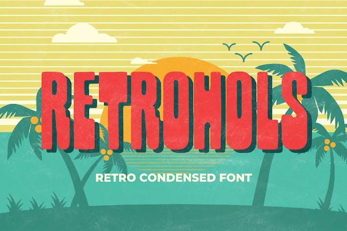 Thumbnail for Retrohols - Police condensée rétro