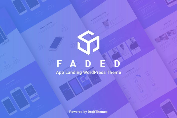 Thumbnail for Faded - Mobile App Landing Page WordPress Theme