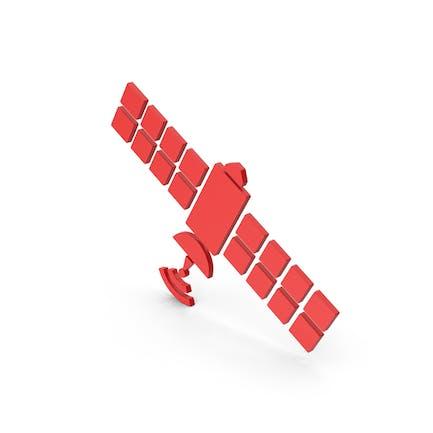 Symbol Satellite Red