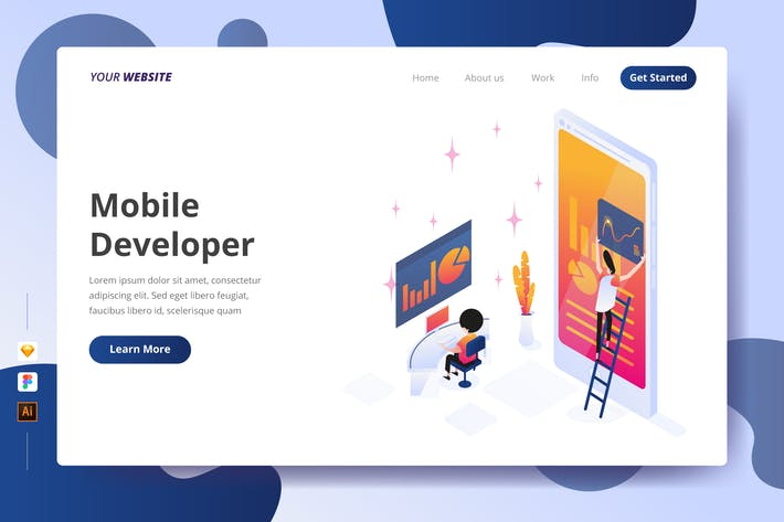 Thumbnail for Mobile Developer - Landing Page
