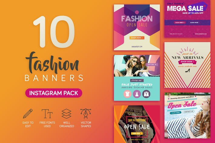 Thumbnail for Fashion Banners