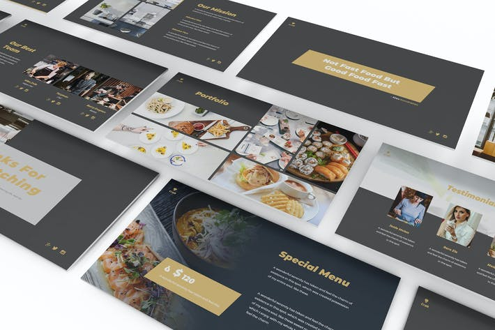 Thumbnail for Craft Kitchen Google Slides Template