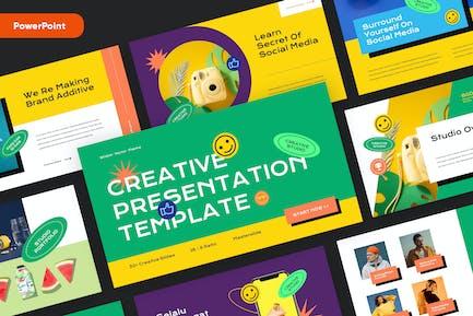 Plantilla de Powerpoint Vector Creative
