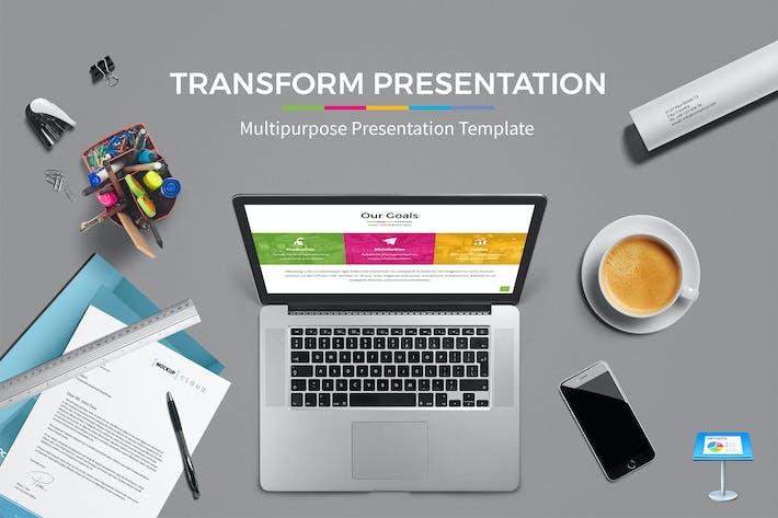 Thumbnail for Transform - Keynote Presentation Template