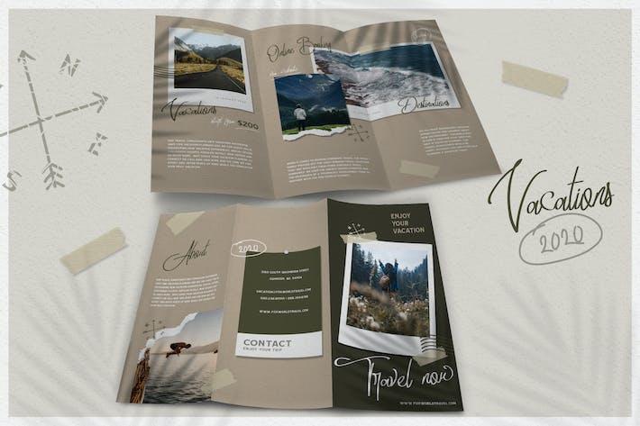 Thumbnail for Modern Shape Travel - Brochure