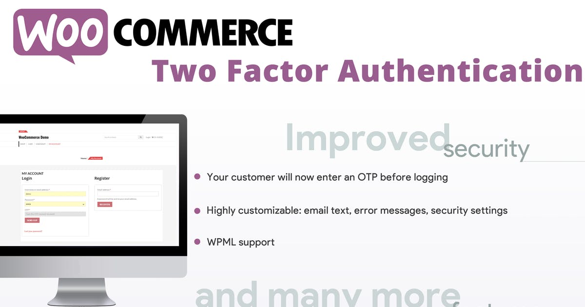 Download WooCommerce Two Factor Authentication by vanquish