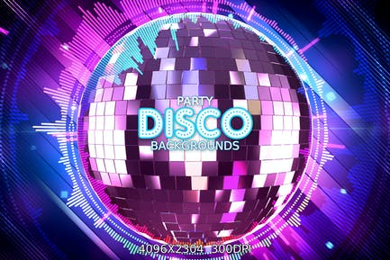 Disco Party Hintergründe