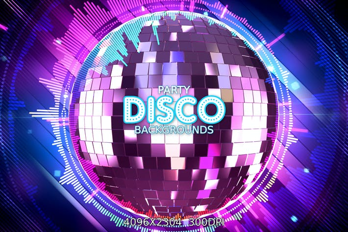 Thumbnail for Disco Party Backgrounds