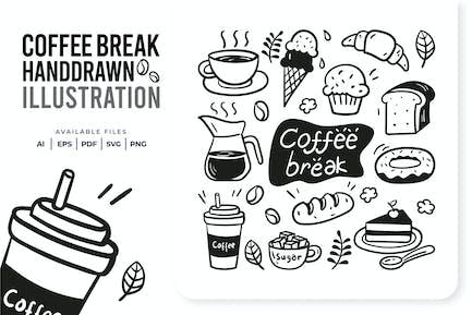 Coffee Break Handdrawn