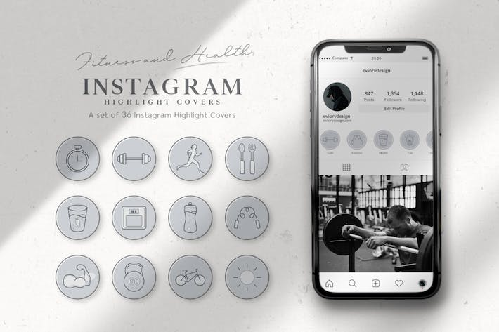 Thumbnail for Instagram Highlight Gym, Fitness, and Health