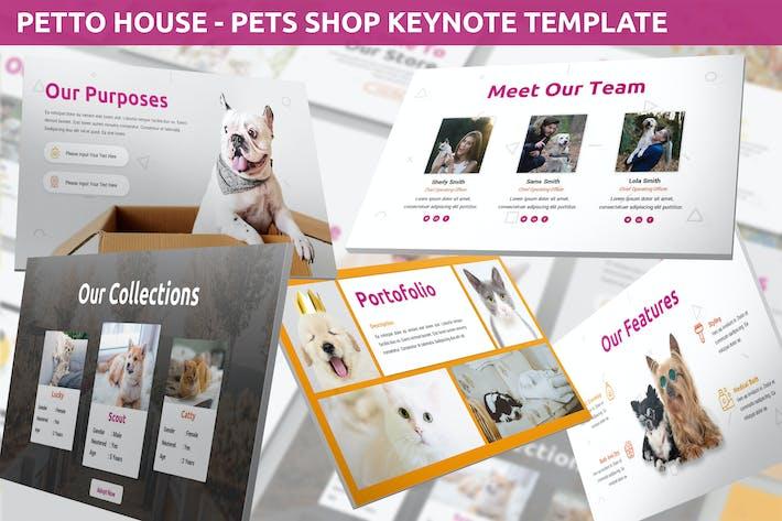 Thumbnail for Petto House - Pet Shop Keynote Template
