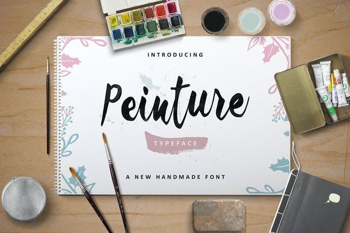 Thumbnail for Peinture Typeface
