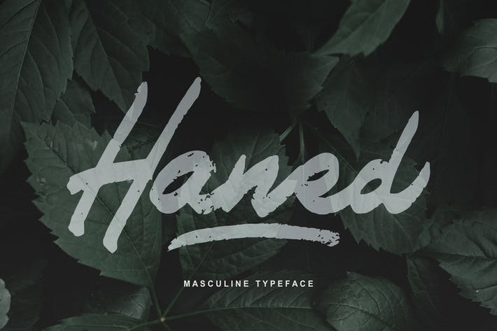 Thumbnail for Haned | Masculine Typeface Font