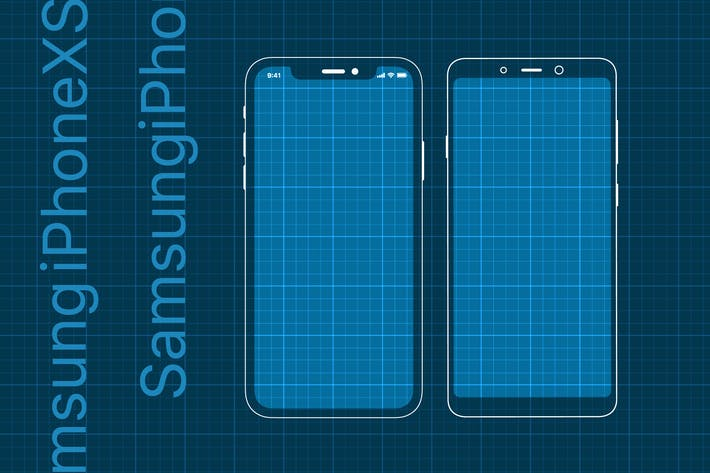 Cover Image For iPhoneXS and Samsung Prototype mockup