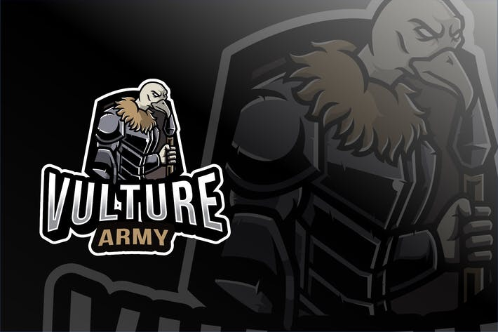 Thumbnail for Vulture Army Esport Logo Template