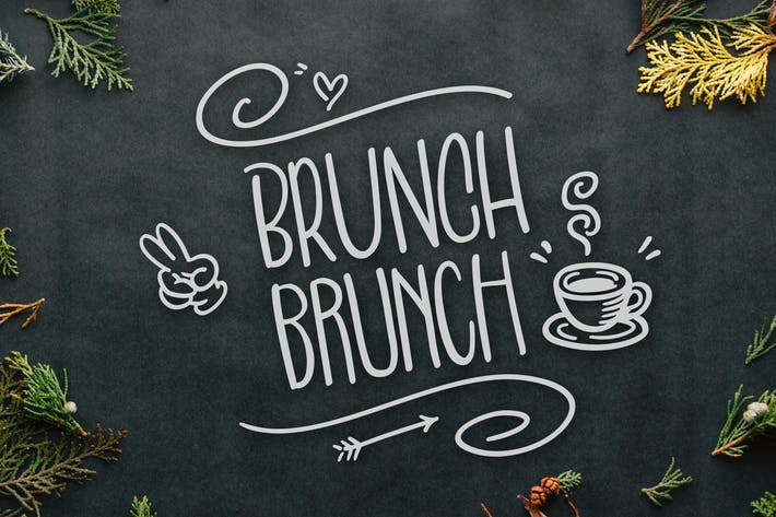 Thumbnail for Brunch Brunch Font