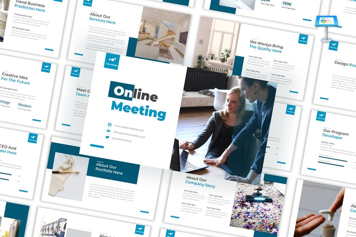 Thumbnail for Online Meeting - Business Keynote Template