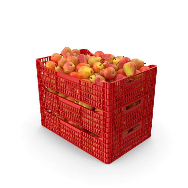 Plastic Crates with Pear Red