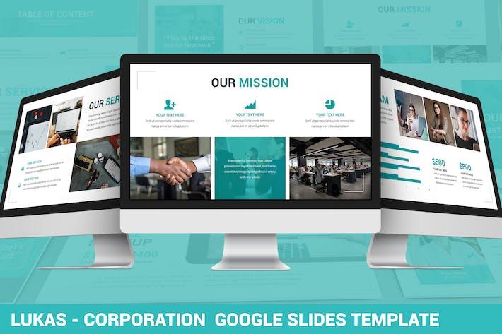 Thumbnail for Lukas - Corporation Google Slides Template