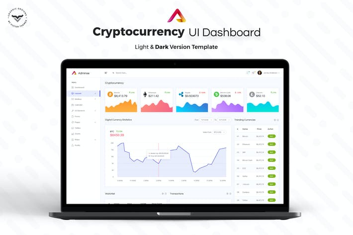 Thumbnail for Cryptocurrency Admin Dashboard UI Kit