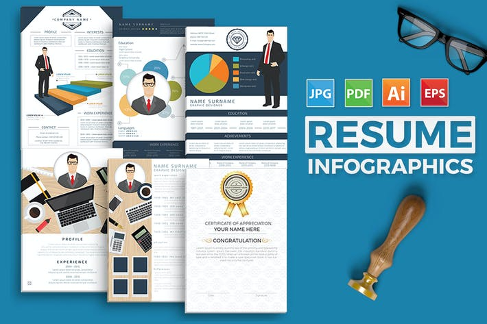 Cover Image For Resume Infographics Design