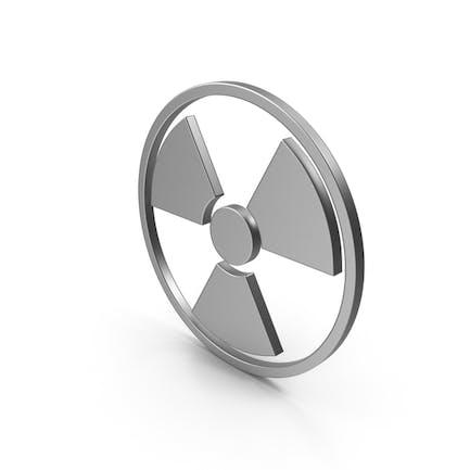 Signo de radiación Metal