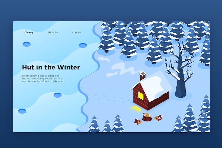Thumbnail for Winter Hut - Banner & Landing Page