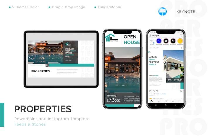 Properties - Keynote & Instagram Template