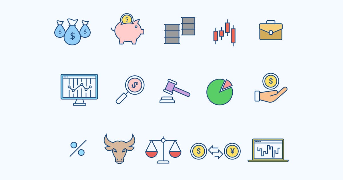 Download 15 Stock Market Trading Icons by creativevip
