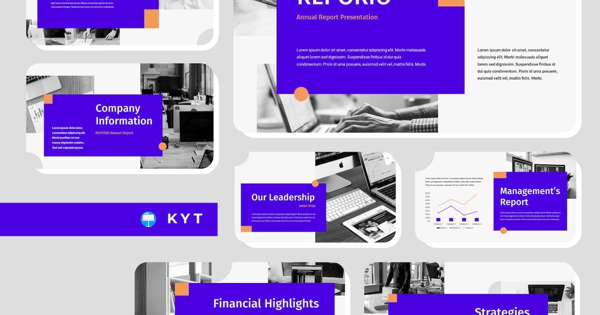 Download REPORIO - Annual Report Keynote Template by inipagi