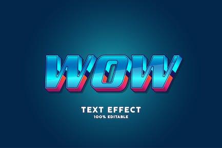 Futuristic text effect