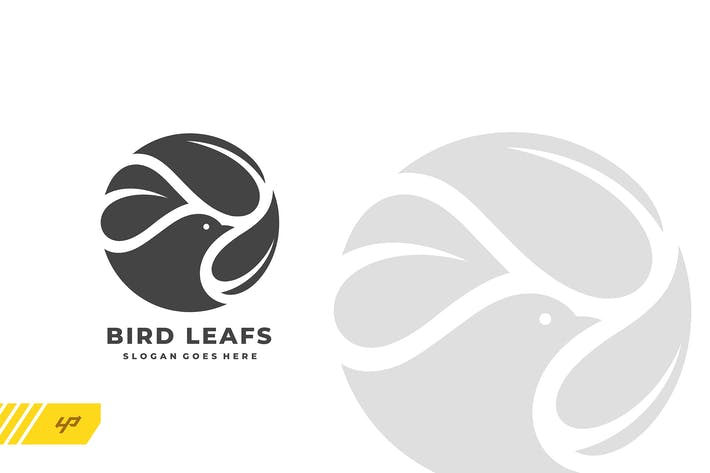 Thumbnail for Bird - Leafs Logo Template