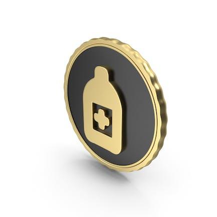 Logo Medicine Bottle Gold