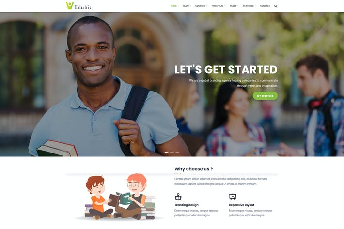 Edubiz - Powerful Education, Courses Drupal Theme