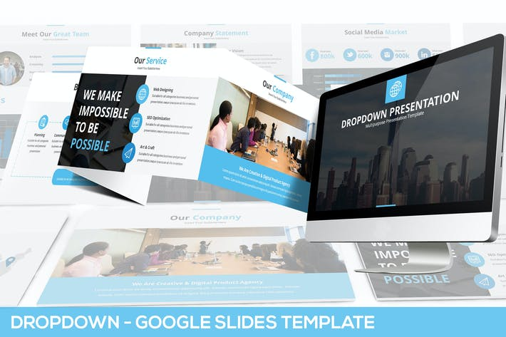Thumbnail for Dropdown Google Slides Presentation Template