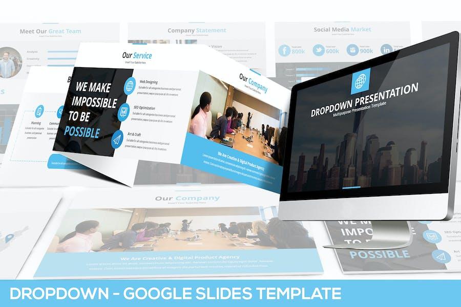 Dropdown Google Slides Presentation Template
