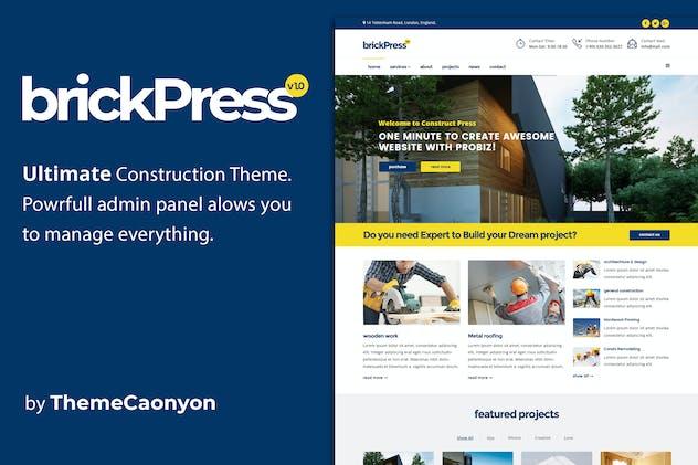 BrickPress - Construction & Business Joomla Templa