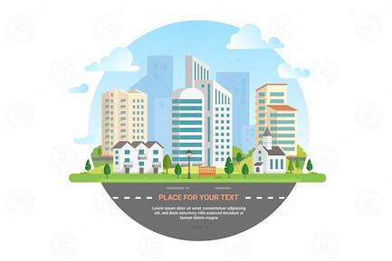 Cityscape - vector illustration