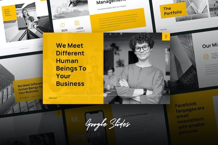 Thumbnail for Manrope - Промышленный бизнес Google Слайды