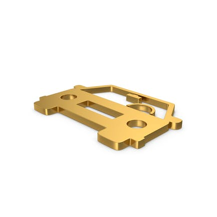 Gold Symbol Car
