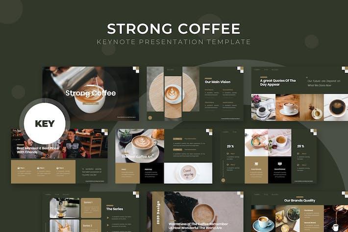 Thumbnail for Сильный кофе - Шаблон Keynote