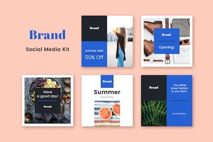 Social-Media-Kit der Marke