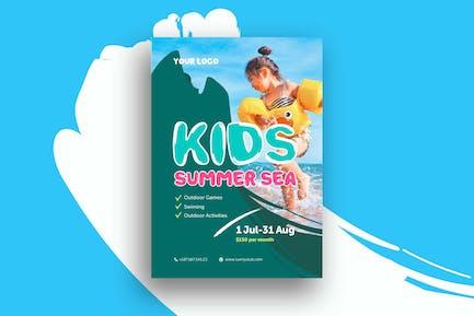 Kinder Sommer Meer