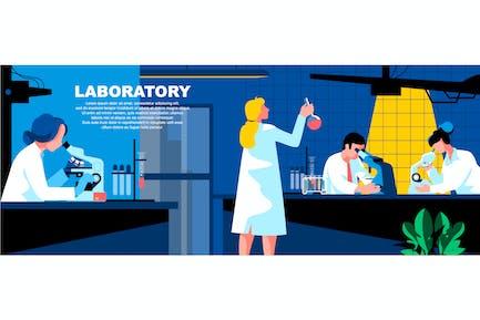 Laboratory Flat Concept Landing Page Header
