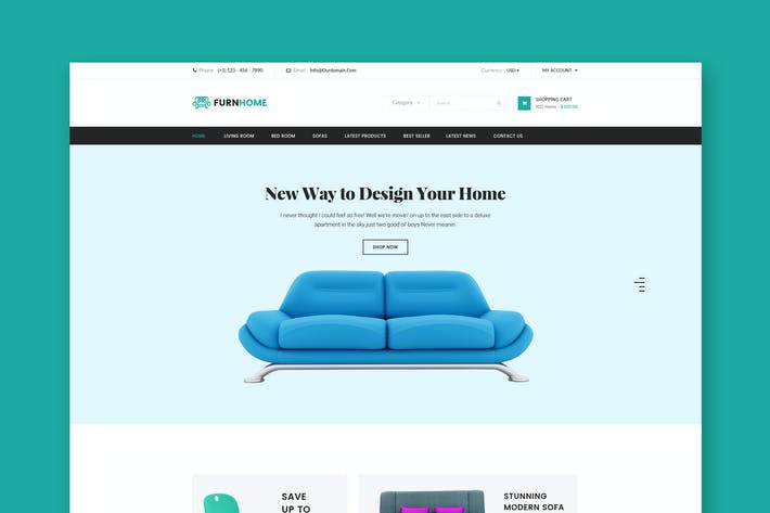 Thumbnail for Furnhome - Furniture Shop eCommerce HTML Template