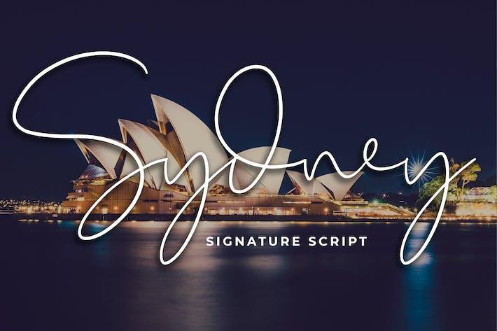 Thumbnail for Sydney Signature Script Font